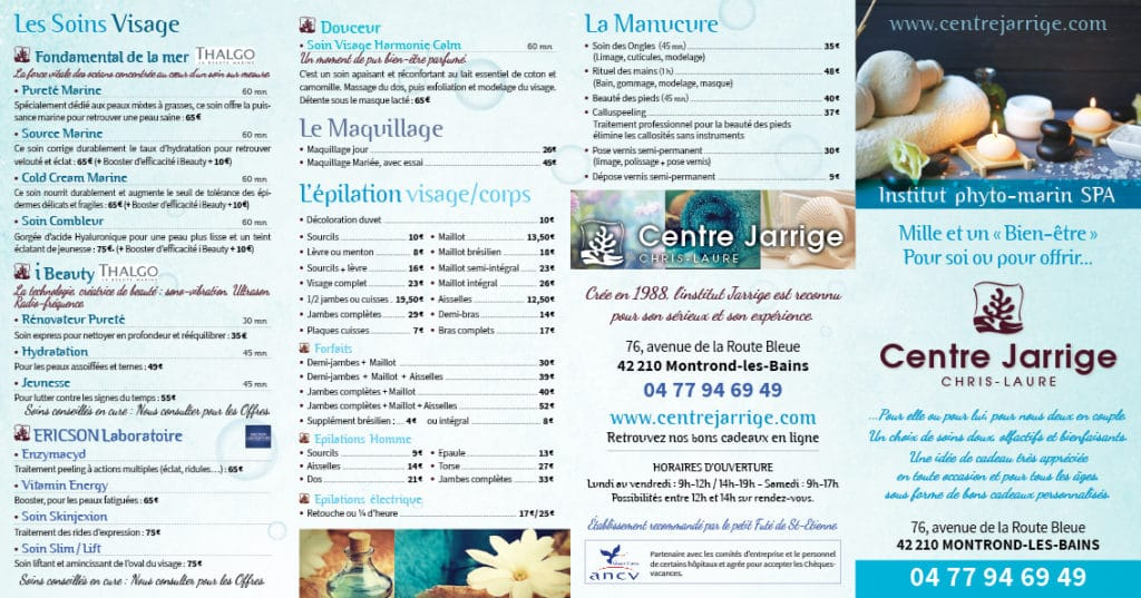 Plaquette Centre Jarrige 2019