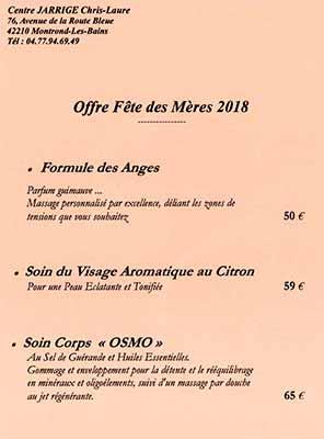 Offre Fête des Mères 2018